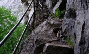 Some of the many steps along the Mist Trail