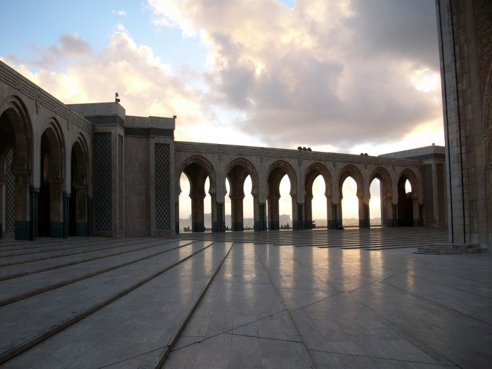 casablanca mosque, last stop on morocco itineary