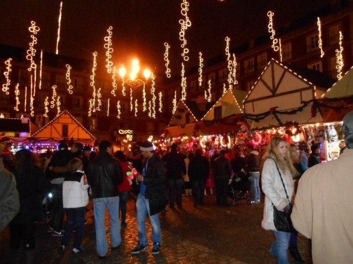 madrid christmas market spain