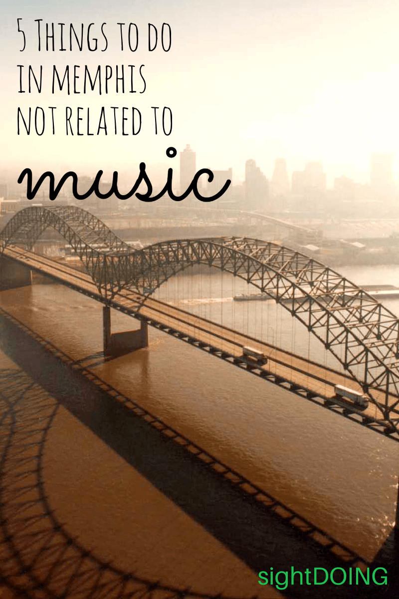 There are plenty of things to do in Memphis TN that have nothing to do with the blues or music. Check out this list for ideas to add to your vacation! #travel #tennessee Full article at https://sightdoing.net/memphis-beyond-blues/