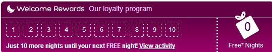 hotels.com welcome rewards 10 nights get 1 free