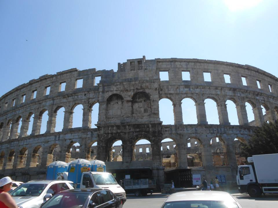 colosseum like structure in pula, croatia