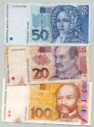 50 kuna bill, 20 kuna, 100 kuna