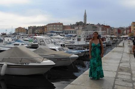On the harbor in Rovinj