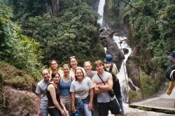 Our Group at the Base of the Falls