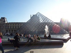 The infamous Louvre pyramid