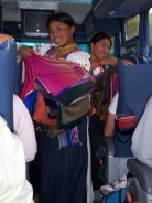 Shopping on the Bus Ride from Quito to Otavalo