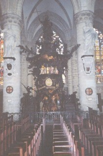 St. Michael's Cathedral in Brussels, Belgium