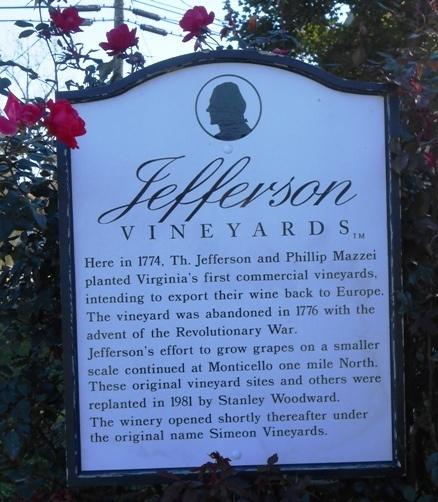 Jefferson Vineyards Charlottesville