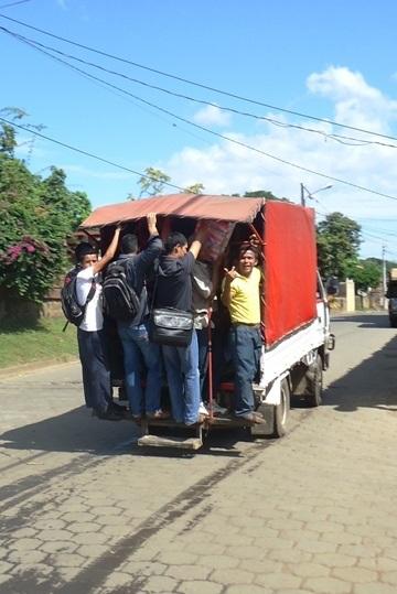 Heading from Sutiava back into Central Leon