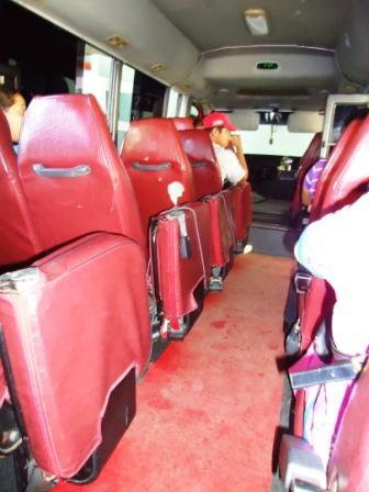By the time we left Granada, every seat was full (including the fold-down seats in the aisle)