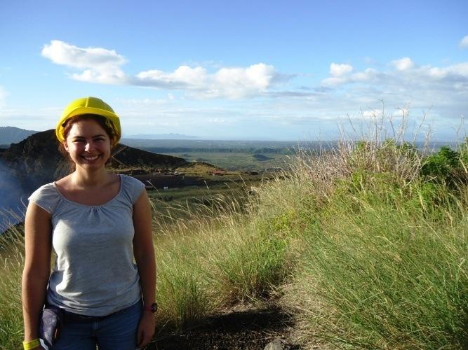 standing by masaya volcano