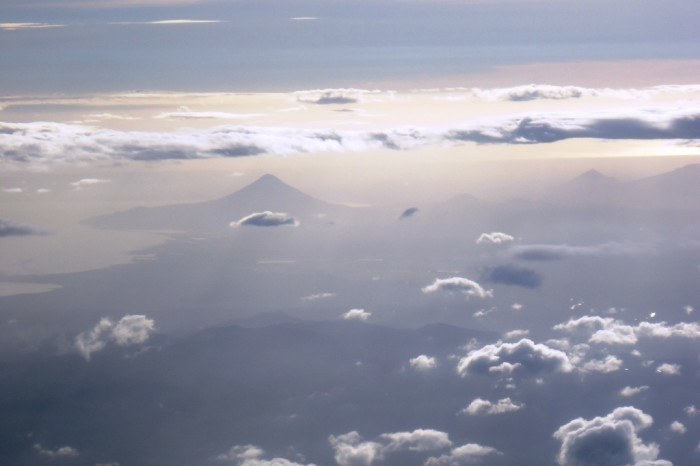My First View of Nicaragua, as seen from TACA flight 397 approaching Managua