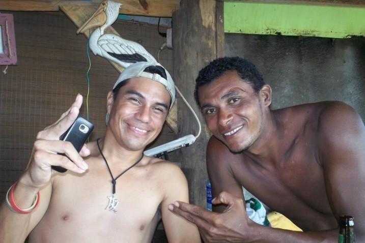 Making new friends at a beachside bar in Las Penitas