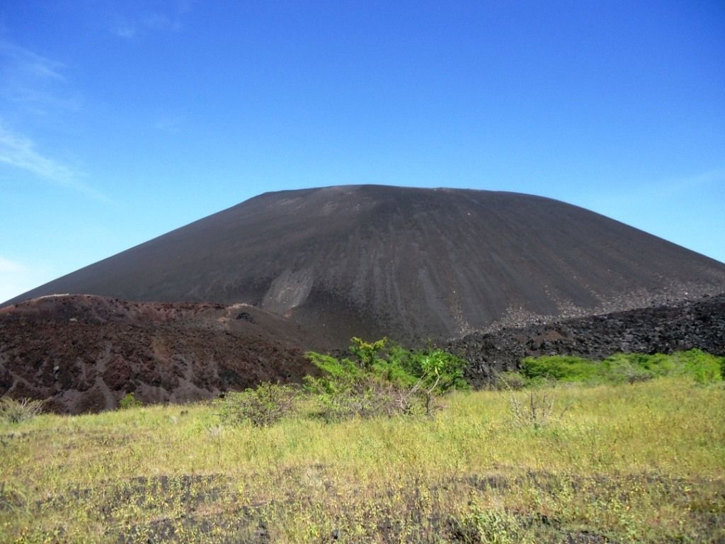 That hill is perfect for volcano boarding!