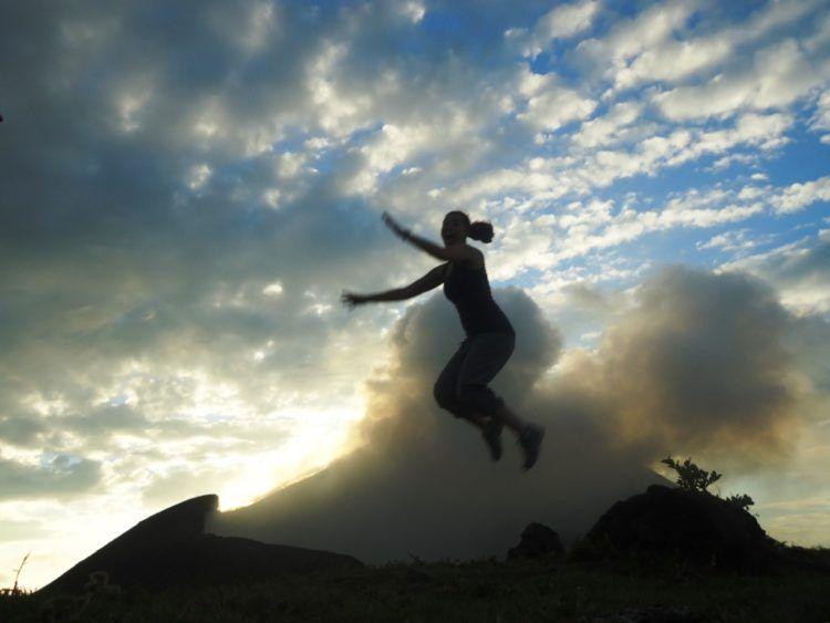 the girl and globe telica volcano nicaragua