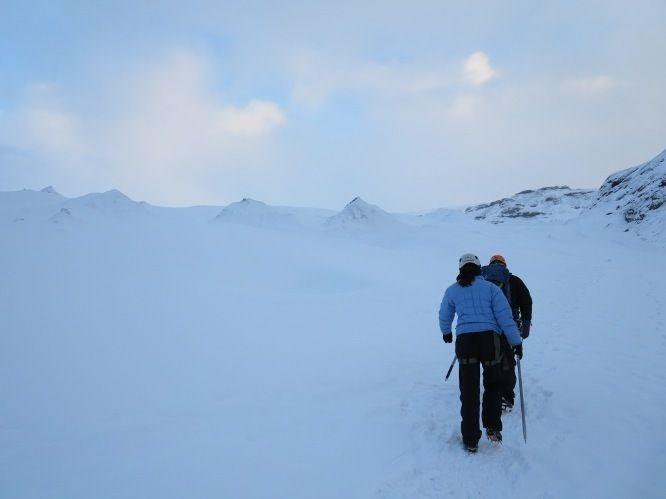 walking on Sólheimajökull Glacier in iceland