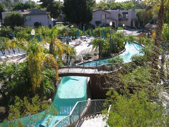Visiting Arizona in the summer simply meant we spent more time enjoying resort amenities, like waterslides, lazy rivers, and pool bars.