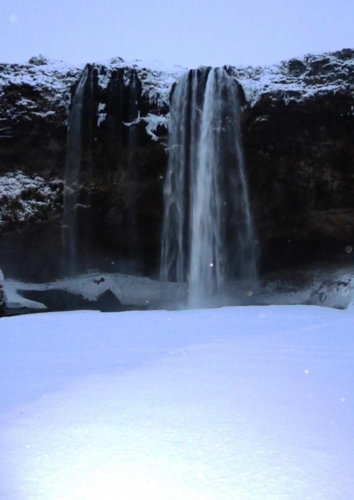 Seljalandsfoss waterfall   arcanum ice climbing iceland