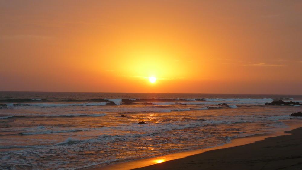 sunset las penitas nicaragua the girl and globe
