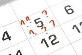 question mark calendar
