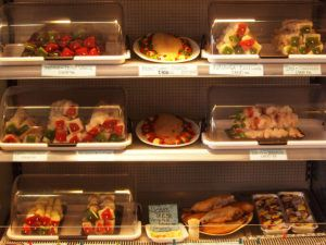 The day's fresh selection of fish in a refrigerated display so you can pick what looks best!