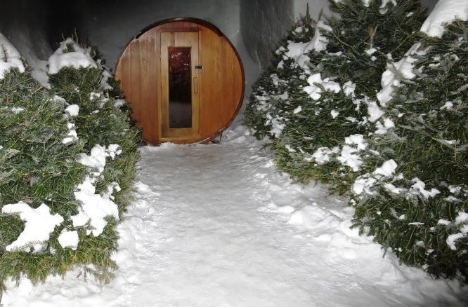 sauna | hotel de glace | ice hotel canada