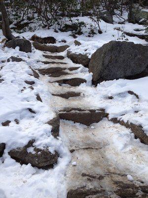 snow old rag saddle trail shenandoah