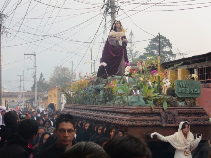virgin mary float