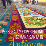 Semana Santa (Holy Week, preceding Easter) in Antigua, Guatemala is an important and popular event for both locals and tourists. It's worth visiting! (Plan for March 2016 or April 2017)