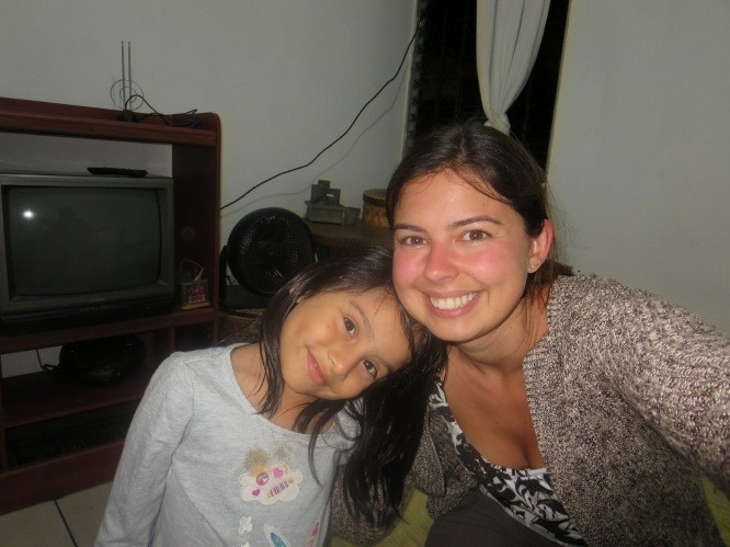 """My """"niece"""" at a Guatemalan homestay"""