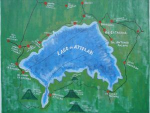 map lake atitlan guatemala