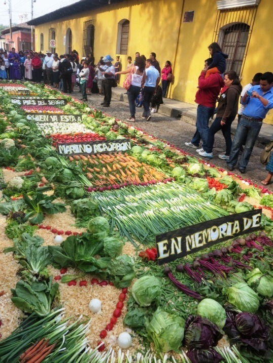 vegetable alfombra guatemala