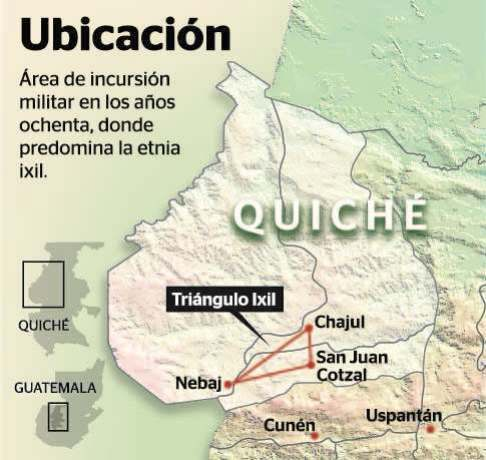 Ixil Triangle Map from Prensa Libre