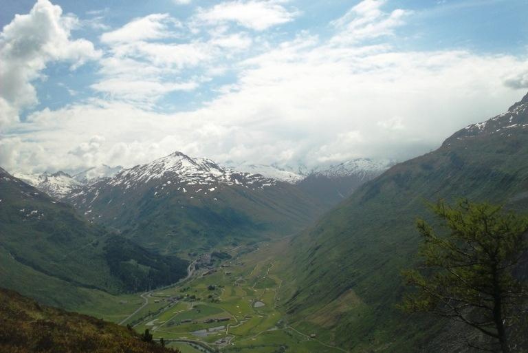 The mountains outside of Andermatt, Switzerland