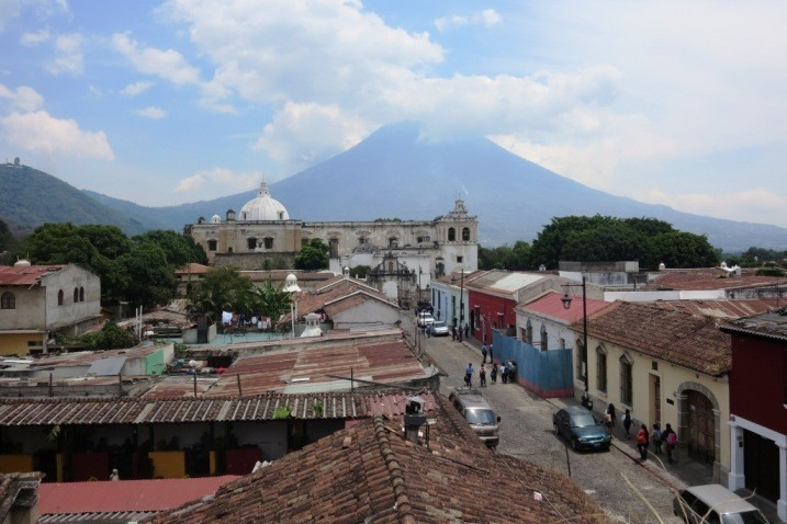 Agua Volcano as seen from Antigua