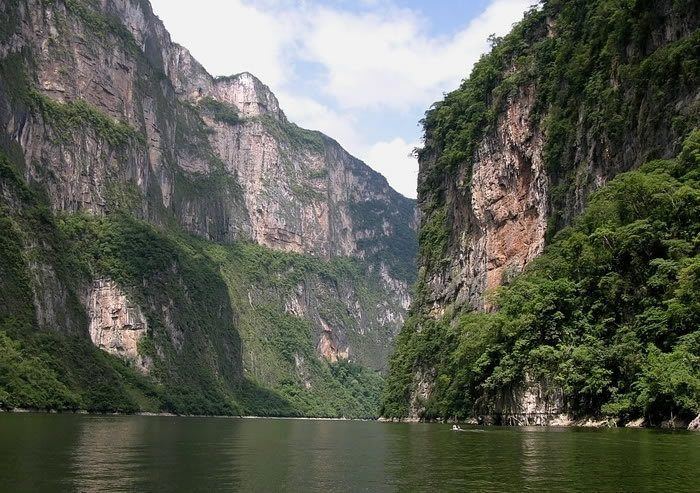 Boating down the Sumidero Canyon - san cristobal things to do in