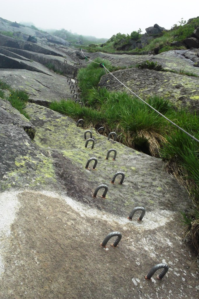 Day 4 Challenge: Climbing 750 meters on the via ferrata in Andermatt, Switzerland.