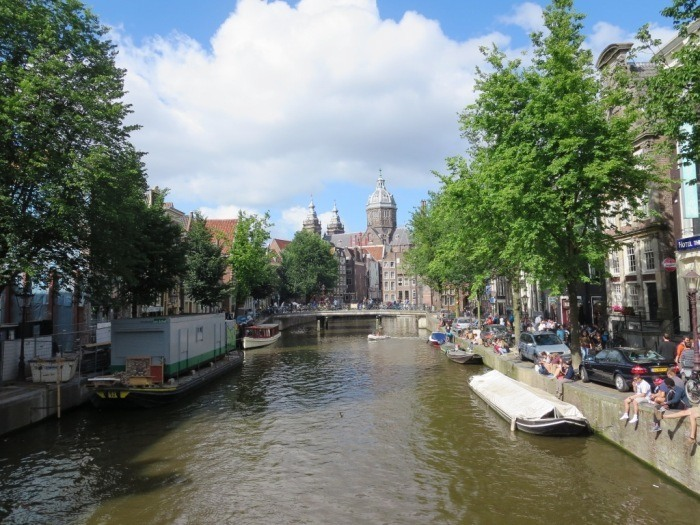 Enjoying the canals throughout Amsterdam.