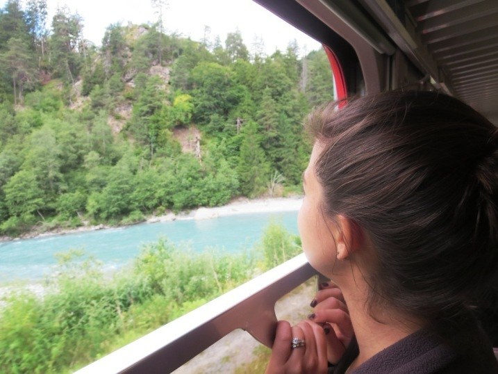 Loving the train ride as much as any other activity.