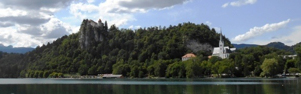 castle lake bled slovenia