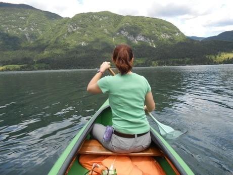 canoe lake bohinj slovenia
