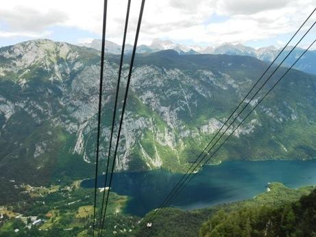 gondola lake bohinj slovenia