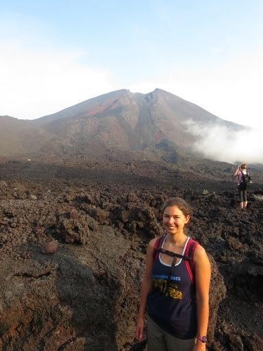 becky on pacaya volcano