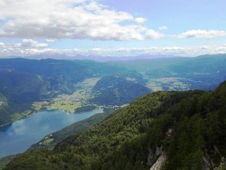 view lake bohinj slovenia
