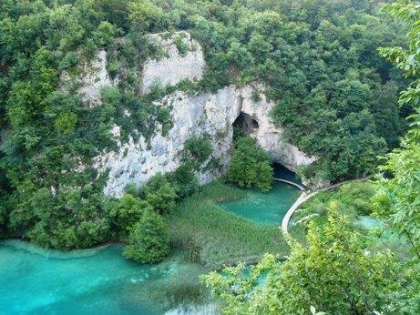 Gorgeous vantage point of Plitvice Lakes National Park Croatia