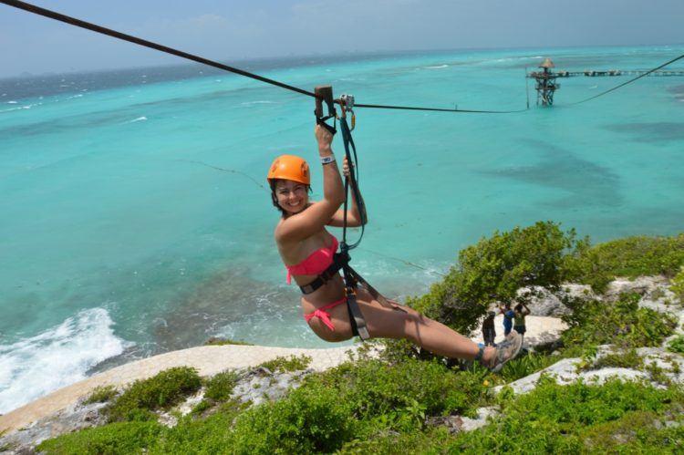 zipline garrafon park isla mujeres cancun mexico