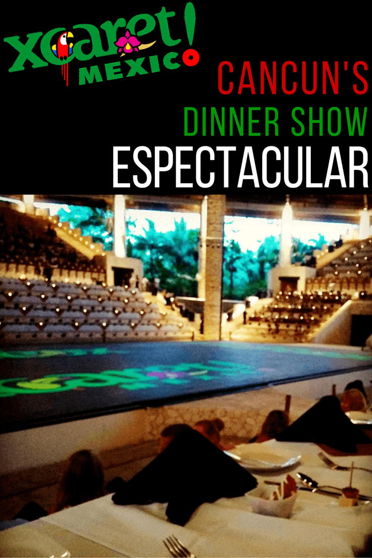 The dinner show at Xcaret Cancun (Xcaret Mexico Espectacular) shows dances, Aztec games, music, and cultural performances from across Mexico's history and today's states. Read more about the performance at Xcaret Cancun.