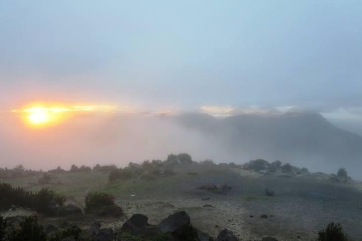 santa maria volcano sunrise xela quetzaltenango guatemala