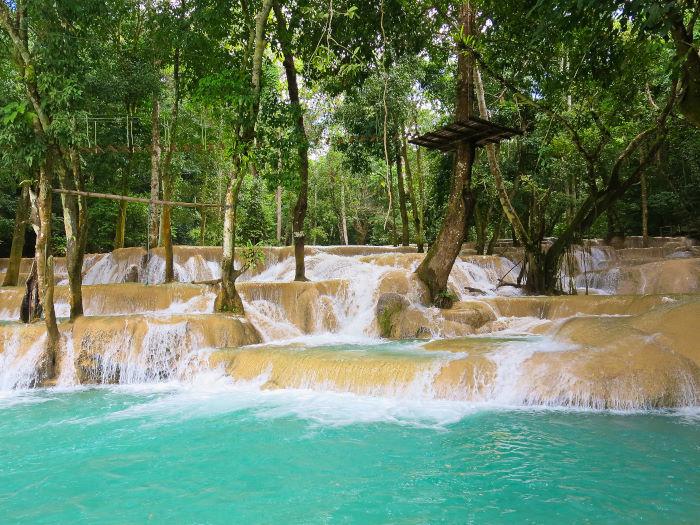 Tad Sae Waterfalls Luang Prabang Laos